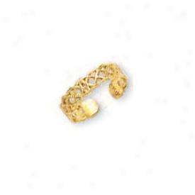 14k Yellow Celtic Toe Ring