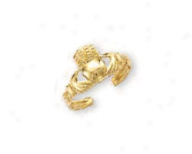 14k Yellow Claddagh Toe Ring