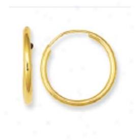 14k Yellow Endless Hoop Earrings
