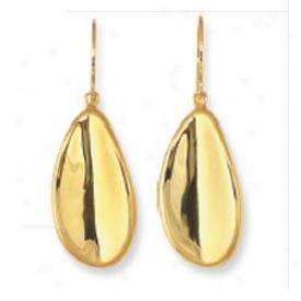 14k Yellow Fancy Drop Earrints