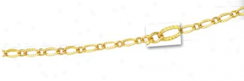 14k Yellow Fancy Link Chain - 20 Inch