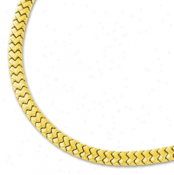 14k Yellow Ornamental  Necklace - 17 Inch