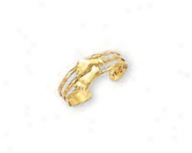 14k Yellow Feet Toe Ring