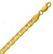 14k Yellow Gold 20 Inch X 5.5 Mm Marinet Link Necklace