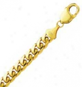 14k Yellow Gold 24 Inch X 6.8 Mm Cuban Link Necklace