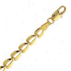 14k Yellow Gold 7 Inch X 4.5 Mm Bumble Bee Linm Bracelet
