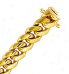 14k Yellow Gold 8.5 Inch X 9.4 Mm Cubann Connect Bracelet