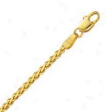 14k Yellow Gold Flat 16 Inch X 2.2 Mm Wheat Chain Necklace