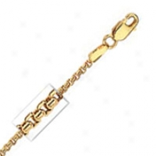 14k Yellow Gold Round 18 Inch X 1.4 Mm Box Chain Necklace