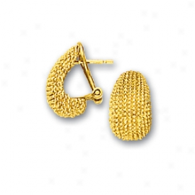 14k Golden Half Hoop Earrings