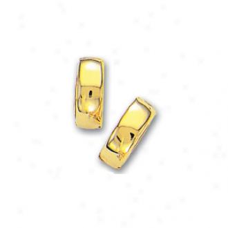 14k Yelloww Hinged Earrings