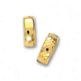 14k Yellow Hingxe Reversible Earrings