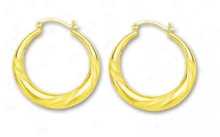 14k Yeplow Hoop Earrings