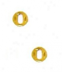 14k Golden Initial O Friction-back Post Earrings