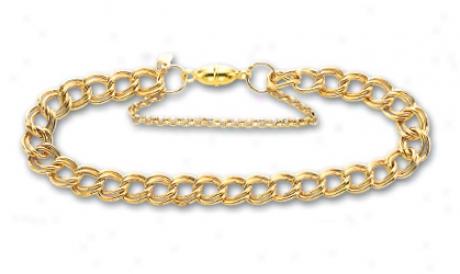 14 kYellow Medum Charm Bracelet - 7.5 Inch
