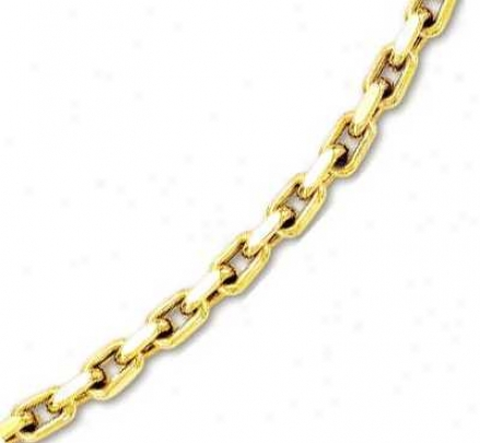 14k Yellow Mens Conspicuous Cable Link Bracelet - 8.75 Inch