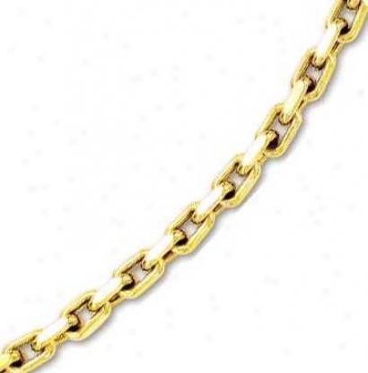 14k Yellow Mens Bold Cable Link Necklace - 26 Inch