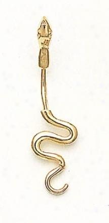 14k Golden Snake Belly Ring