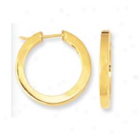 14k Yellow Adjusted Tube Hoop Earrings