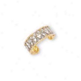 14k Yellow Triangular Design Toe Ring