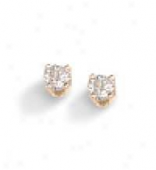 .20 Ctw Round Diamond Stud Earrings (1/5ctw - I1/2 - J-k)