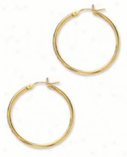2.0 Mm 1 1/4 Inch Hoop Earrigs