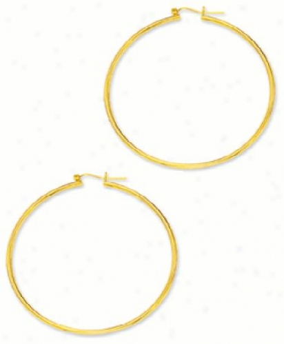 2.0 Mm Two Inch Hoop Earrings