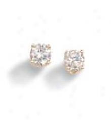 .25 Ctw Round Diamond Stye Earrings (1/4ctw - I1/2 - J-k)