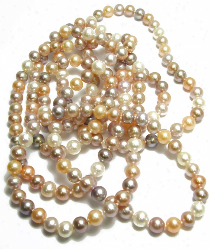 60 Inch Native Multicolored Freshwater Pearl Strand