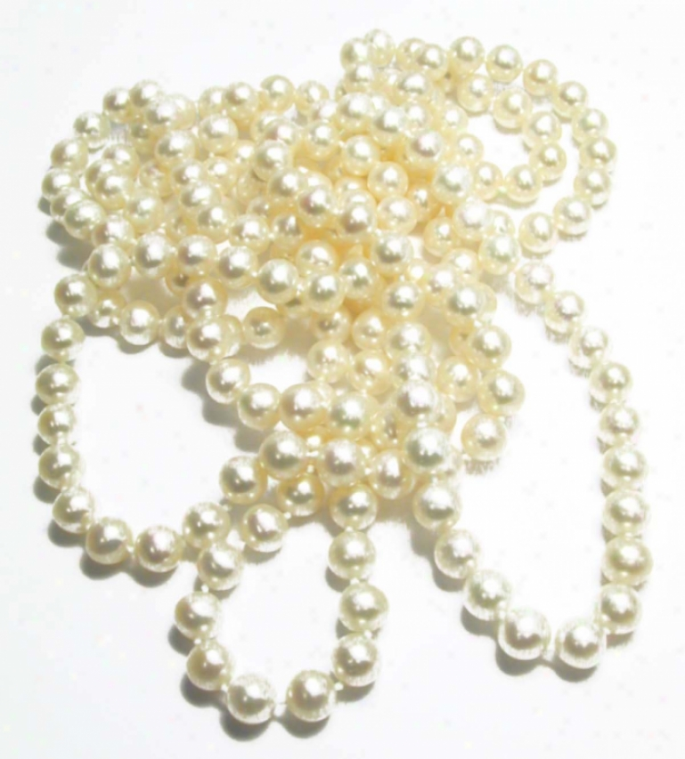 60 Inch Genuine White Freshwater Pearl Strand