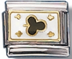 Particle Of Clubs Italian Charm Link