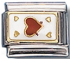 Ace Of Hearts Italian Charm Link
