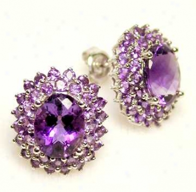Amethyst Cocotail Earrings