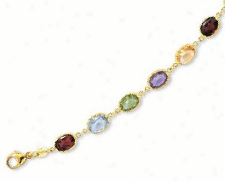 Bold Bezel-set Gemstone Bracelet