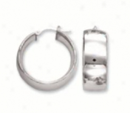 Bold Mirrod Hoop Earrings