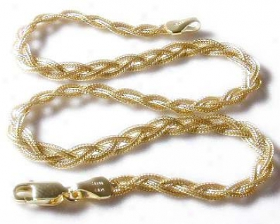 Braided Foxtail Ankle Bracelet