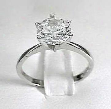 Brilliant Cz Cubic Zirconia Solitaire Ring