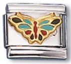 Butterfly Language of Italy Charm Link