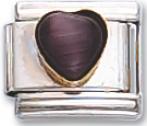 Cats-wye Black Heart Italian Charm Link