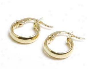 Childrens Pierced Hoop Earrings