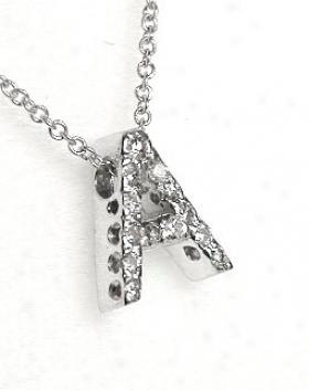 Choice Of Diamond Initial Pendant