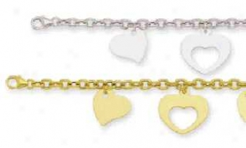 Choice Of Multi Heart Shaped Subdue by a ~ Bracelet
