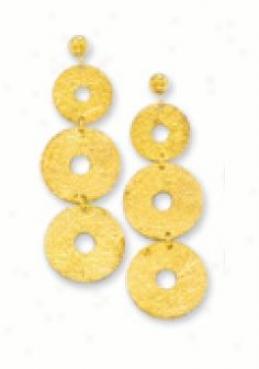 Circle Leave Earrings