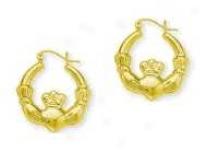Claddaugh Hoop Earrings