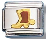 Cowboy Boot Language of Italy Charm Link