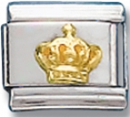 Crown Italian Charm Link