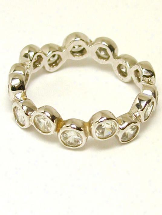 Cubic Zirconia Cz Round Eternity Ring