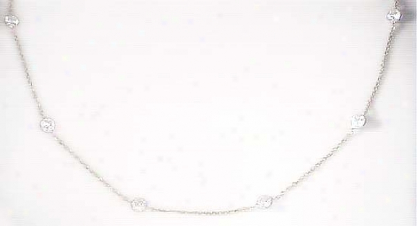 Cubic Zirconia Czs By The Yard Station Necklace - Choice 16-i