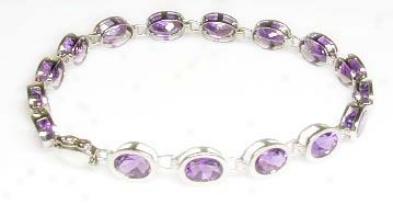 Elegant Amethyst Bezel Bracelet