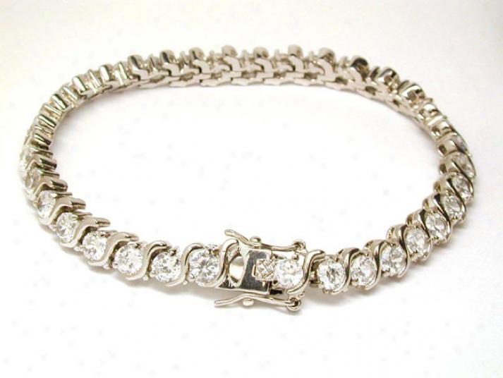 Elegant Cubic Zirconia S Design Tennis Bracelet